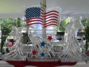 Stars and Stripes ice sculpture