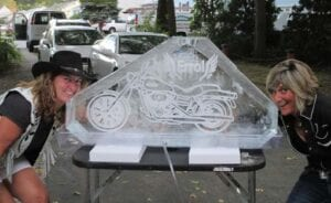 Full Block Double Shot luge with engraving