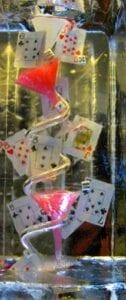 Gambling Ice Luge Sculpture