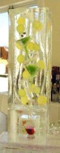 Lemon-Lime Ice Luge Sculpture