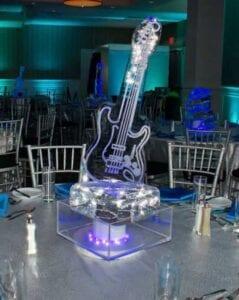 Ice Guitar Centerpiece