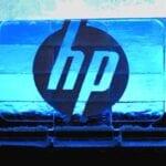 HP Logo 18 feet wide Ice Sculpture