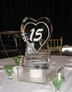 Heart with sweet 15