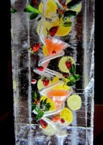 Holiday Cosmo Ice Luge Sculpture