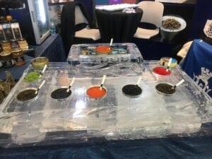 Custom Caviar display for the Boston Seafood Show.