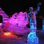 "N""ice Puppy Ice Sculpture Boston"