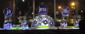 Jess sushi bar ice sculpture