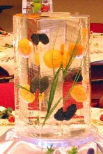 Lemon Centerpiece in ice