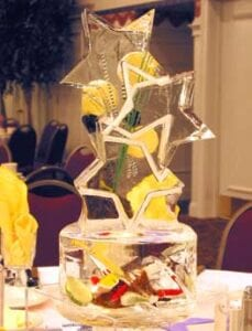 Lemon and Star Centerpiece in ice