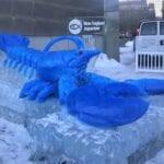 Lobster made with blue Ice Boston Aquarium '8