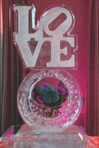 Love on flower vase base