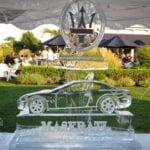 Maserati Logo Ice Sculpture