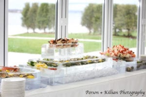 Our standard raw bar enough space to wow your guests!o