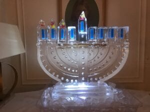 Menorah colored 40 wide x 35 tall
