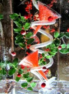 Mistletoe Ice Luge Sculpture