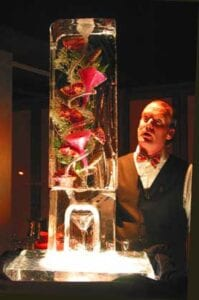 Pomegranate Ice Luge Sculpture