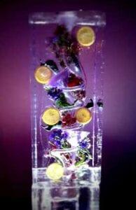 Purple-Grape-with-purple-flowers Ice Luge Sculpture