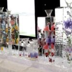 Purple theme Table Top Martini Bar Ice Sculpture