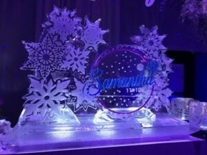 Snowflakes display with Logo