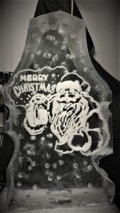Santa beer full block luge