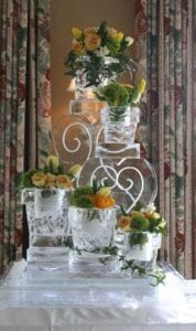 Small Flower Pots Ice Sculpture