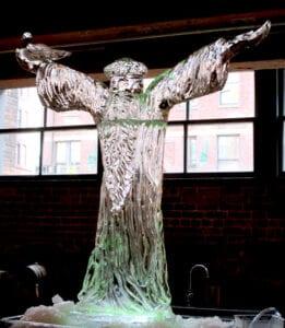 St Brian Ice Sculpture