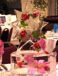 Ice Strawberry Star Centerpiece