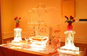 Strawberry Fountain Ice sculpture