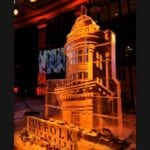 Suffolk University Ice Sculpture Gold