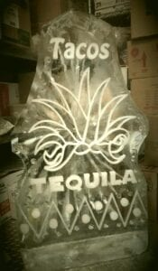 Taco and Tequila double sided shot luge
