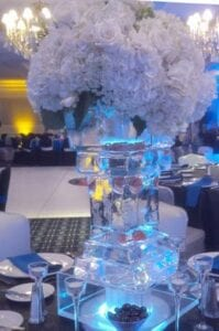Tall vase Ice Sculpture