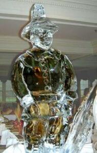 Thanksgiving Pilgrim ice sculpture
