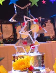 Ice Three Star Centerpiece
