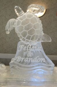 Sea Turtle with bride and grooms names