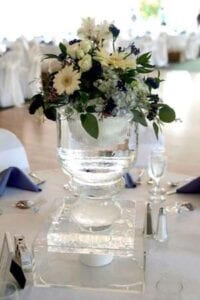 Vase Centerpiece Ice Sculpture