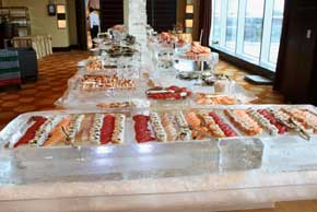 40 foot Sushi and and raw bar station