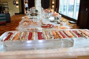 40 foot Sushi and and raw bar station
