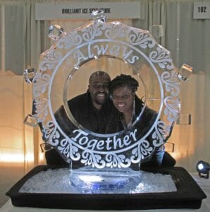 Wedding Ice Frame