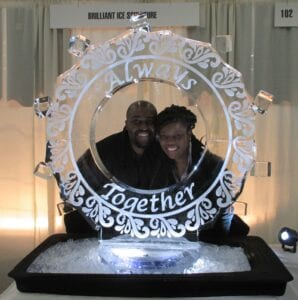 Wedding Ice Frame for selfies
