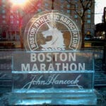Boston Marathon Ice Sculpture on Copley Square Boston