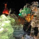 Buffalo Children Ice Sculpture