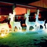 Vienna Austria, santa and sleigh Ice Scultpure
