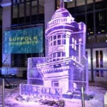 Suffolk University Ice Sculpture Boston