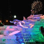 Orca Ice sculpture Boston