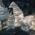 Salmon Run Ice Sculpture Boston