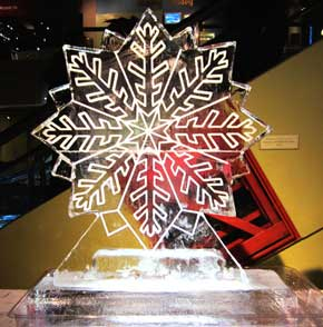 Snowflake Ice Sculpture Large