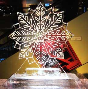 Snowflake Ice Sculpture Large