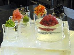 Inverted Martini Glass Ice sculpture