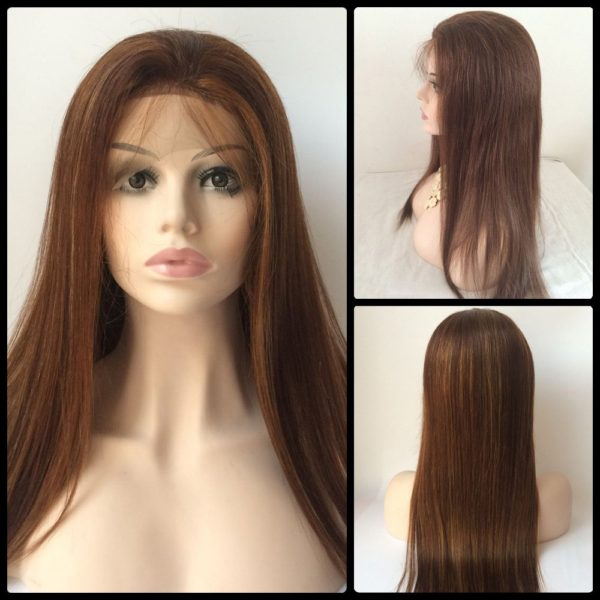 Long Lace Front Real Natural Hair Straight Wig
