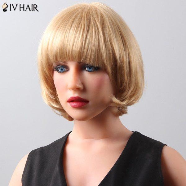 Women's Fashion Bob Style Siv Hair Human Hair Wig